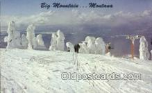 spo025470 - Big Mountain, MT USA Ski, Skiing Postcard Post Card Old Vintage Antique