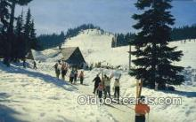 spo025512 - Snoqualmie Summit Ski Area, WA USA Ski, Skiing Postcard Post Card Old Vintage Antique