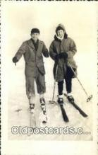 spo025523 - Ski, Skiing Postcard Post Card Old Vintage Antique
