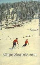 spo025528 - Badger Pass , Yosemite National Park, CA USA Ski, Skiing Postcard Post Card Old Vintage Antique