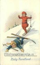 spo025529 - Ski, Skiing Postcard Post Card Old Vintage Antique
