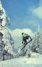 spo025555 - Terrain Jump At Snow Summit, Big Bear Lake, CA USA Ski, Skiing Postcard Post Card Old Vintage Antique