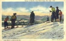 spo025563 - Linen, Ski Hill, Lake Placid, NY USA Skiing Postcard Post Card Old Vintage Antique