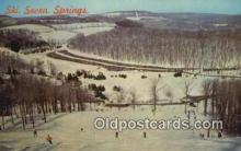 spo025566 - Seven Springs Ski Area, Pittsburgh, PA USA Skiing Postcard Post Card Old Vintage Antique