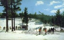 spo025567 - Pine Mountain Lodge And Ski School, Iron Mountain, MI USA Skiing Postcard Post Card Old Vintage Antique