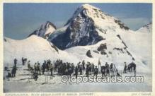 spo025572 - Jungfraujoch Blick Gegen Eiger U Monch. Ski sport Skiing Postcard Post Card Old Vintage Antique