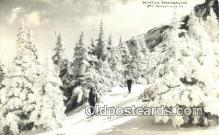 spo025573 - Winter Wonderland, Mt Mansfield, VT USA Real Photo, Skiing Postcard Post Card Old Vintage Antique