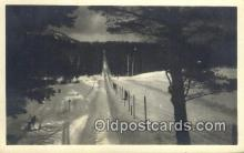 spo025576 - Skiing Postcard Post Card Old Vintage Antique