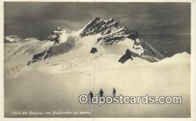 spo025581 - Printed Photo, Die Jungfrau Vom Jungfraufirn Aus Gesehen Skiing Postcard Post Card Old Vintage Antique