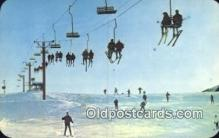 spo025582 - MI, USA Skiing Postcard Post Card Old Vintage Antique