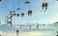 spo025583 - MI, USA Skiing Postcard Post Card Old Vintage Antique