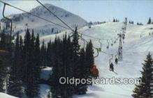 spo025584 - Ski Lift, Brighton, UT USA Skiing Postcard Post Card Old Vintage Antique