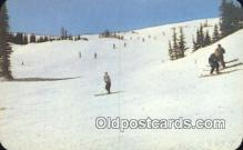 spo025587 - Skiing In The Rockies, USA Skiing Postcard Post Card Old Vintage Antique