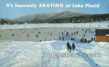 spo025592 - Lake Placid, NY USA Skiing Postcard Post Card Old Vintage Antique