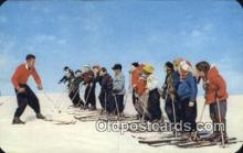 spo025594 - Skiing Class Skiing Postcard Post Card Old Vintage Antique