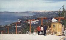 spo025598 - Heavenly Valley Ski Lift, Lake Tahoe, NV USA Skiing Postcard Post Card Old Vintage Antique