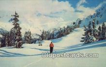 spo025606 - Skiing Postcard Post Card Old Vintage Antique