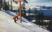 spo025613 - Superb Ski Runs, Lake Tahoe, NV USA Skiing Postcard Post Card Old Vintage Antique