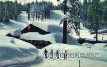 spo025617 - Yosemite National Park Ski House At Badger Pass, CA USA Skiing Postcard Post Card Old Vintage Antique