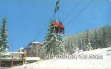 spo025622 - Chair Lift Ski Area, NM USA Skiing Postcard Post Card Old Vintage Antique
