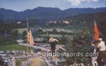 spo025623 - Fourth Of July, Lake Placid, NY USA Skiing Postcard Post Card Old Vintage Antique