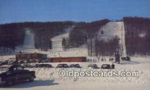 spo025629 - Along Michigan's Boyne Mountains Ski Lodge, Michigan, MI USA Skiing Postcard Post Card Old Vintage Antique