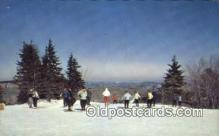 spo025632 - At The Top Of The Poma Lift, Hogback Mountain, Vermont, VT USA Skiing Postcard Post Card Old Vintage Antique