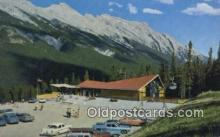 spo025634 - Canadian Rockies, Sulphur Mountain Gondola Lift Skiing Postcard Post Card Old Vintage Antique
