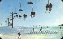 spo025635 - Skiing In Michigan's Winter Wonderland, Michigan, MI USA Skiing Postcard Post Card Old Vintage Antique