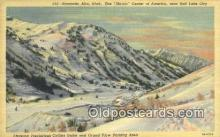 spo025641 - Collins Gulch, Alta, Utah, UT USA Skiing Postcard Post Card Old Vintage Antique