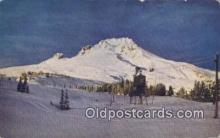 spo025651 - Ski Tow At Timberline Lodge, Mt Hood, Oregon, OR USA Skiing Postcard Post Card Old Vintage Antique