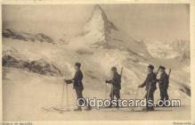 spo025653 - Skieurs En Patrouille Skiing Postcard Post Card Old Vintage Antique