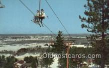 spo025673 - Scenic Chair Lift AT Pine Mountain, Iron Mountain, Michigan, MI USA Skiing Postcard Post Card Old Vintage Antique