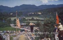 spo025676 - Fourth Of July Ski Jumping, Lake Placid, New York, NY USA Skiing Postcard Post Card Old Vintage Antique