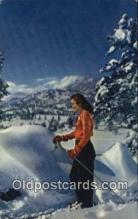 spo025689 - Skiing Postcard Post Card Old Vintage Antique
