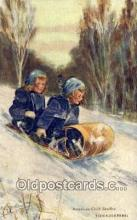 spo025803 - Ski, Skiing Postcard Post Card Old Vintage Antique