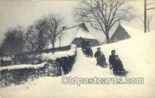 spo025804 - Ski, Skiing Postcard Post Card Old Vintage Antique