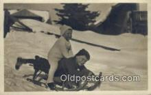 spo025805 - Ski, Skiing Postcard Post Card Old Vintage Antique