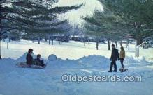 spo025808 - Winter At White Beauty Resort, Lake Wallenpaupack, PA USA Ski, Skiing Postcard Post Card Old Vintage Antique
