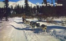 spo025817 - Alaska Husky Dog Team, AK USA Ski, Skiing Postcard Post Card Old Vintage Antique