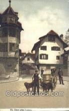 spo025825 - Eln Stuck Altes Luzern Ski, Skiing Postcard Post Card Old Vintage Antique