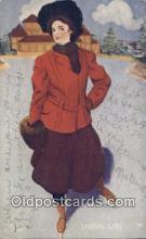 spo025826 - Ski, Skiing Postcard Post Card Old Vintage Antique