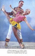 spo025827 - Advertising, Juanita Percelly And Tommy Allen, Holiday On Ice 1965, Miami Beach, FL USA Ski, Skiing Postcard Post Card Old Vintage Antique
