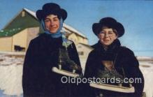 spo025829 - Amish Skaters Ski, Skiing Postcard Post Card Old Vintage Antique