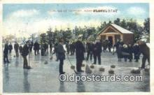 spo025842 - Curling At Tayport, Blacksboat Ski, Skiing Postcard Post Card Old Vintage Antique