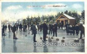 spo025842 - Curling At Tayport, Blacksboat Ski, Skiing Postcard Post Card Old Vintage Antique