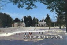 spo025846 - A Modern Version Of Currier And Ives Winter In New England, Hill, New Hampshire, NH USA Ice Skating Postcard Post Card Old Vintage Antique