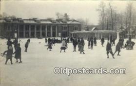 spo025851 - Ice Skating Postcard Post Card Old Vintage Antique