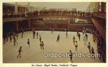 spo025857 - Ice Arena, Lloyd Center, Portland, Oregon, OR USA Ice Skating Postcard Post Card Old Vintage Antique