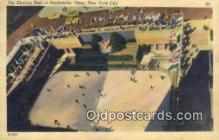 spo025860 - Rockefeller Plaza, Outdoor Skating Pond, New York City, New York, NY USA Ice Skating Postcard Post Card Old Vintage Antique